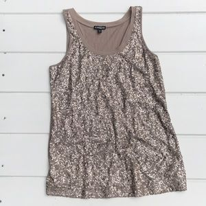 Tops - Champagne sequined tunic